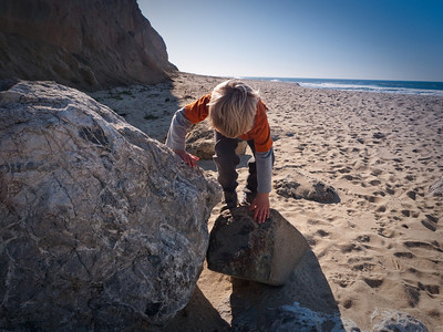 A natural climbing wall.