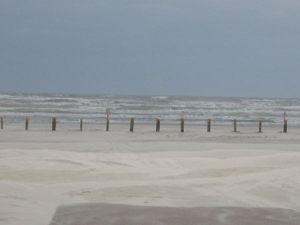 The wind really blew hard for the first couple of days I was there. It's an angry ocean.