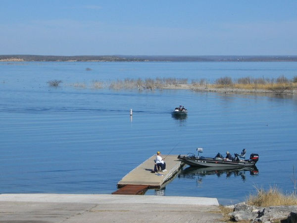 Boat ramp at Lake Armistatd. This is a huge lake and recreation area.