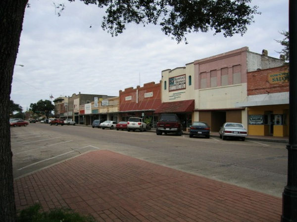 The main street in old Kingsville, Tx. The King ranch headquarters is about five miles outside of town.