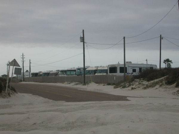My RV is the third from the right. Looking from the beach. Nice!!