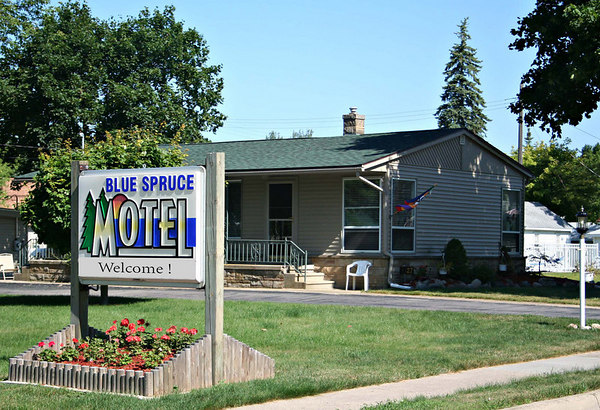 """Blue Spruce & Lucky Horseshoe Motel & Cabins<br /> Located at the Tip of the Thumb of Michigan<br /> © Pamela Stover<br /> Exposed Images Photography<br />  <a href=""""http://www.bluesprucemotelportaustin.com"""">http://www.bluesprucemotelportaustin.com</a>"""