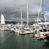 Sailboats and boats docked at Port Douglas in Queensland, Australia.
