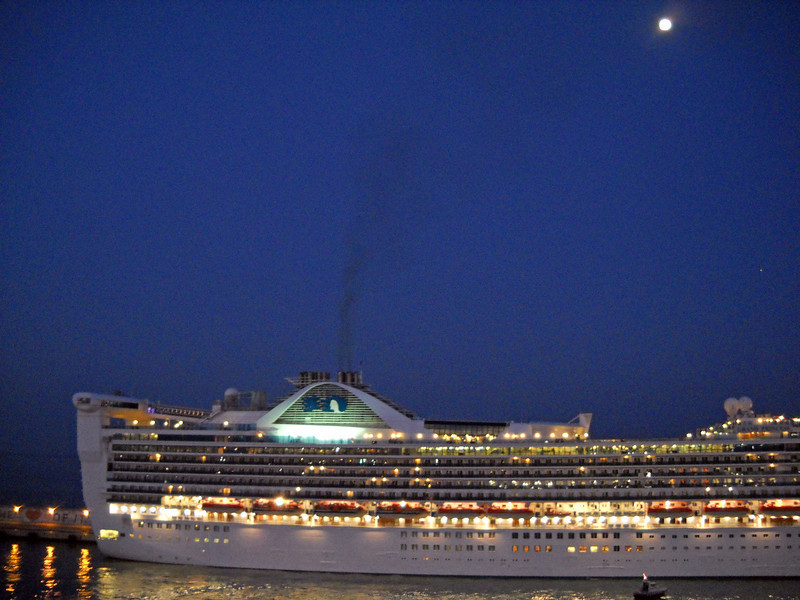 Grand Princess with Moon