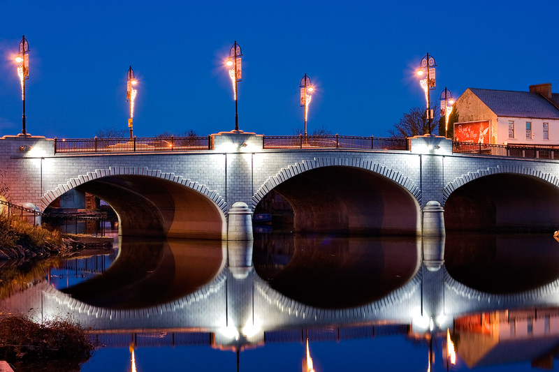 The bridge over the river Bann in Portadown, Northern Ireland, photographed just before dawn.