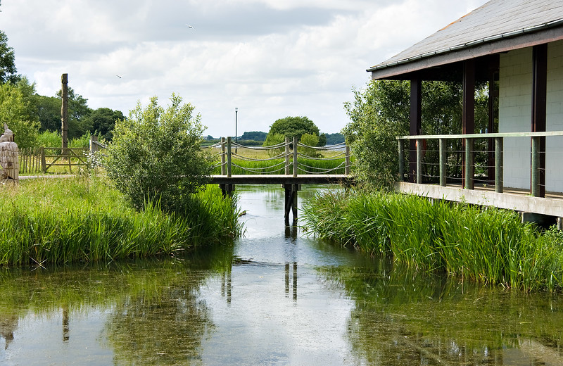 The footbridge to the Discovery centre, Oxford Island, Northern Ireland