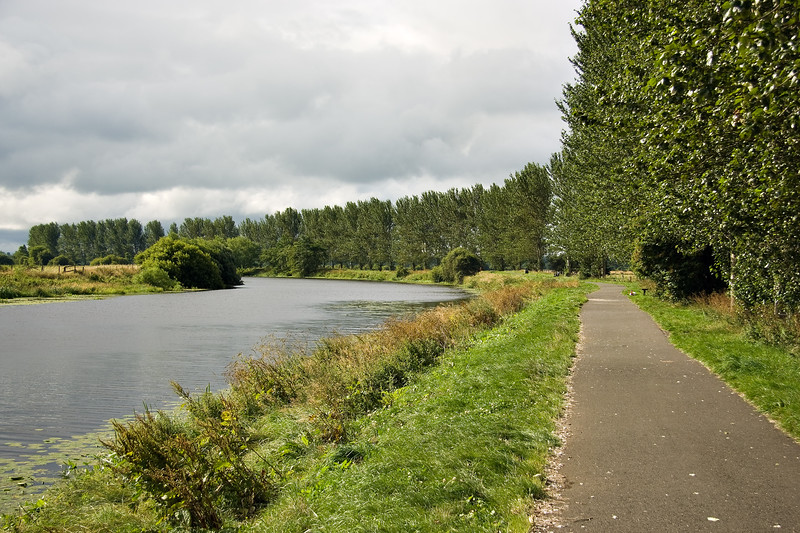 The towpath beside the River Bann, Portadown, Northern Ireland