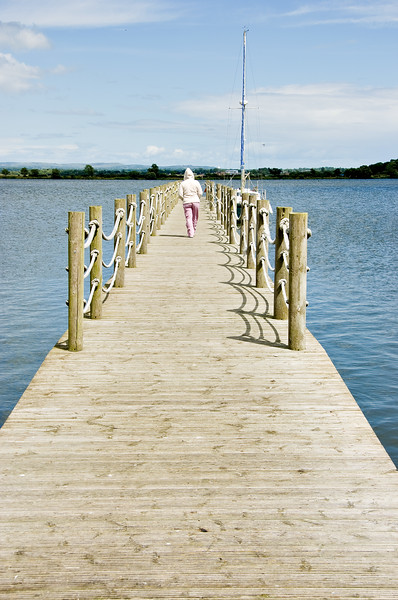 A walk along a pier at Oxford Island, Northern Ireland