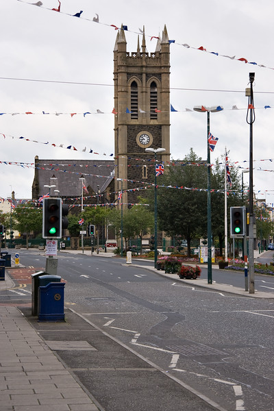 St Marks Church in the centre of Portadown, Northern Ireland