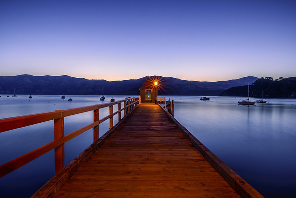Akaroa Harbour Jetty Dusk