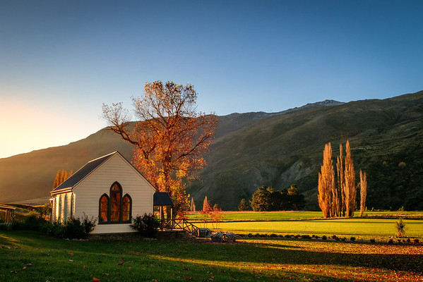 Waitiri Creek Autumn Sunset, Central Otago