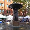 Fountain in the Saturday market area.