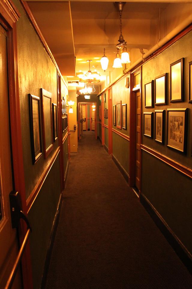 McMenamins Crystal Hotel hallway.
