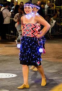 Illuminated Polynesian dancers