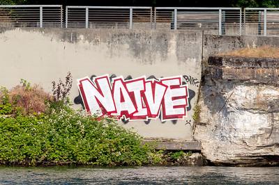Graffiti across the Willamette River