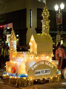 Cannon Beach sand castle float