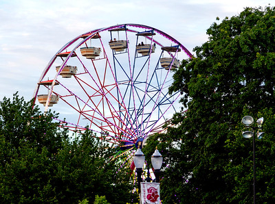 Carnival Ferris Wheel at sunset