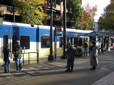 Free light rail of Portland