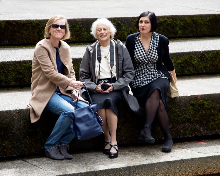 A fine-looking trio:  Theresa, Carol, and Stephanie.