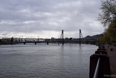 More of the many bridges that cross the Willamette River to connect Portlands east and west sides.