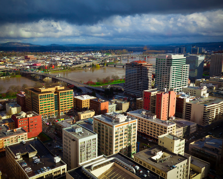 View of Portland, Oregon from the City Grill