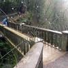 The bridge at Multnomah Falls in Portland, Oregon.