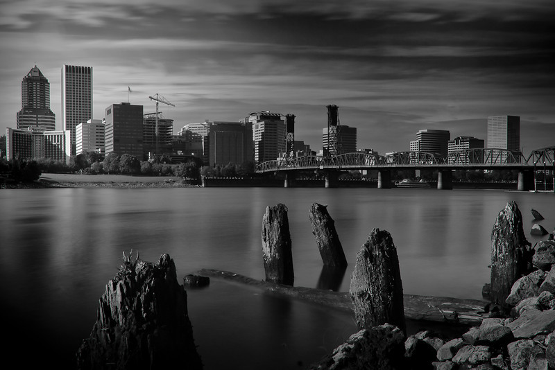 Portland, Oregon Black & White