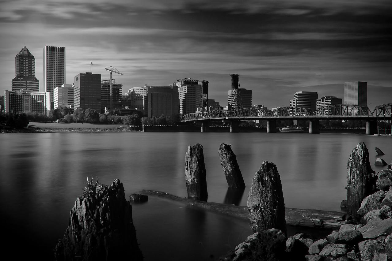 Portland, Oregon Black & White