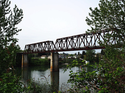 Just outside Wilsonville, Oregon and along the Willamette River and at the site of the Boone's Ferry Landing.