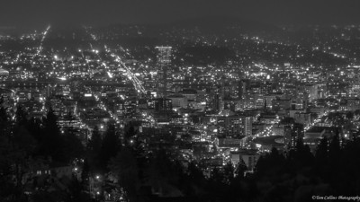 The view from The Pittock Mansion in west Portland, Oregon.
