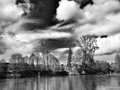 The Cowlitz River, Washington.