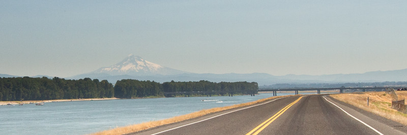 Mt Hood on a pretty hazy day