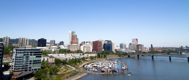 A view of Portland from the Marquam bridge