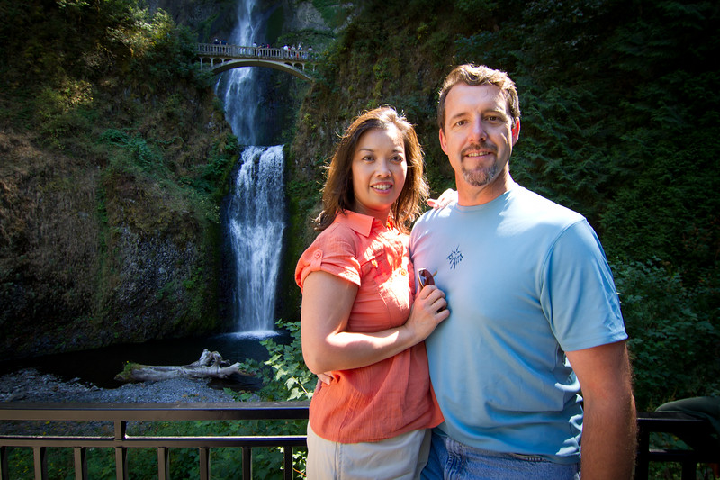 Aunt Rose and Uncle Neil by Multnomah Falls