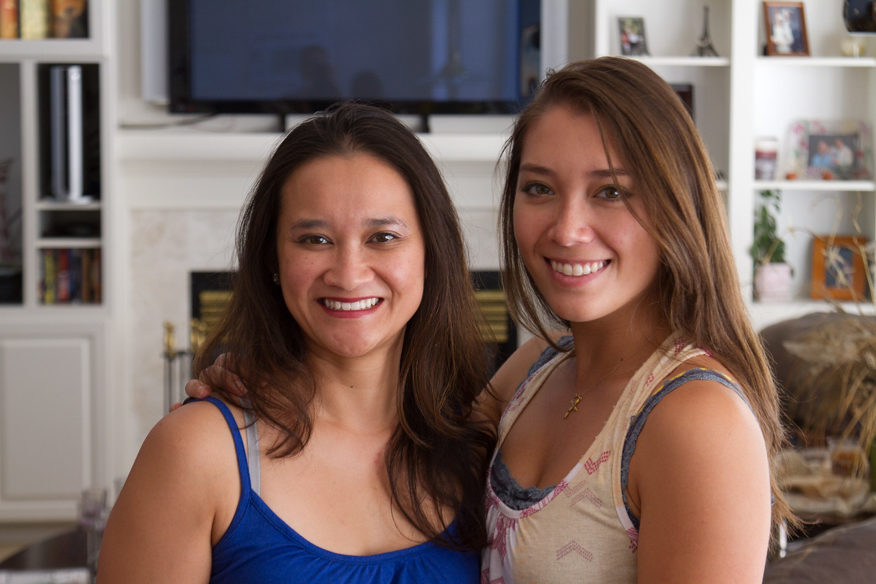 Catherine and her cousin Larissa