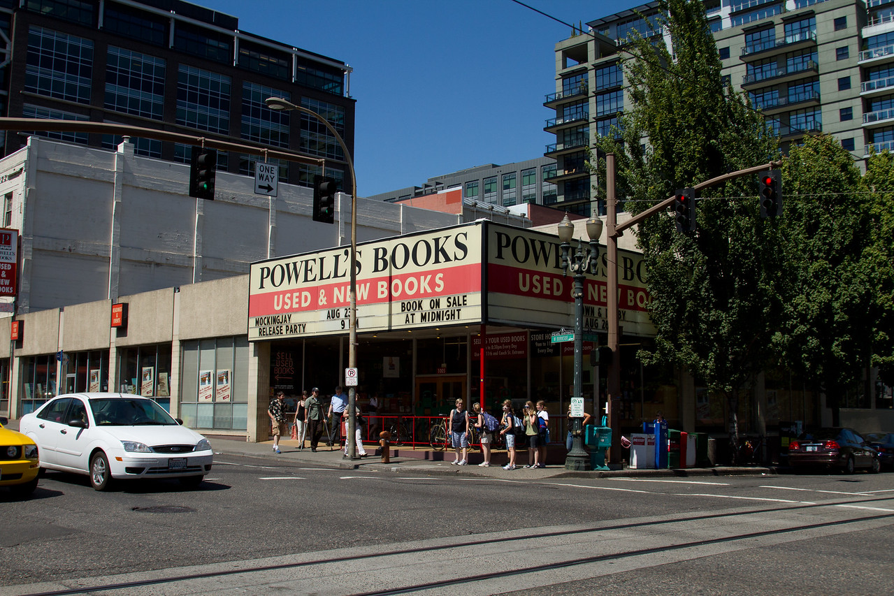 Powell's City of Books - the biggest bookstore I've ever been to.