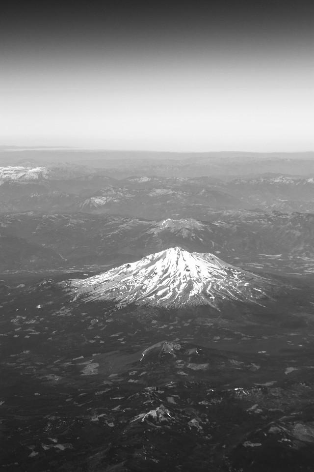 Mount Lassen's peak - snowy even in August