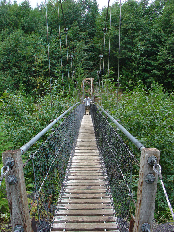 yours truly on the suspension bridge