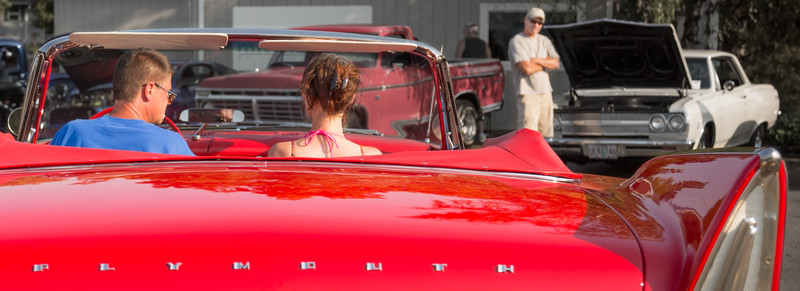 ...that candy apple red convertible...