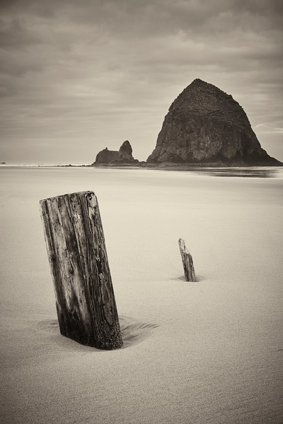 Morning at Cannon Beach with Haystack Rock in the background