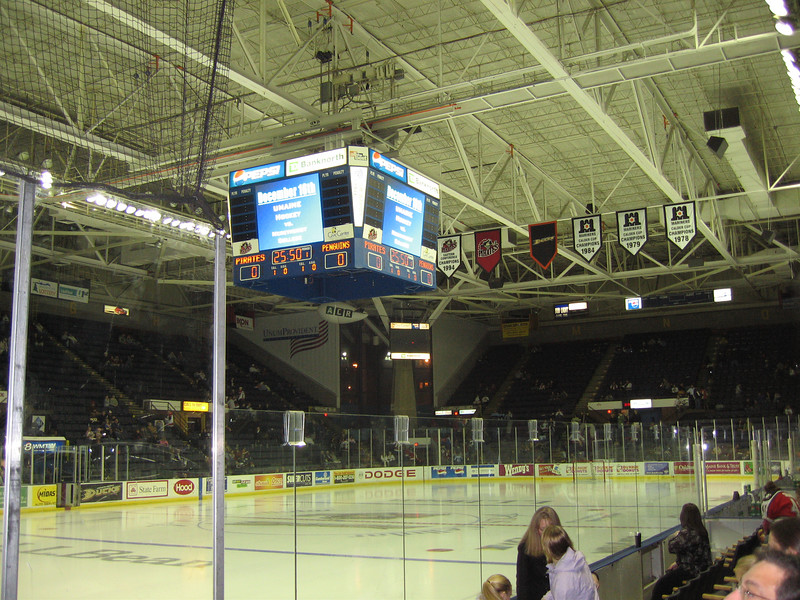 Inside the Cumberland County Civic Center, Portland Maine