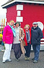 Carmel, Jane, Ann, and Keith in Knightstown, Valentia on another wet day.