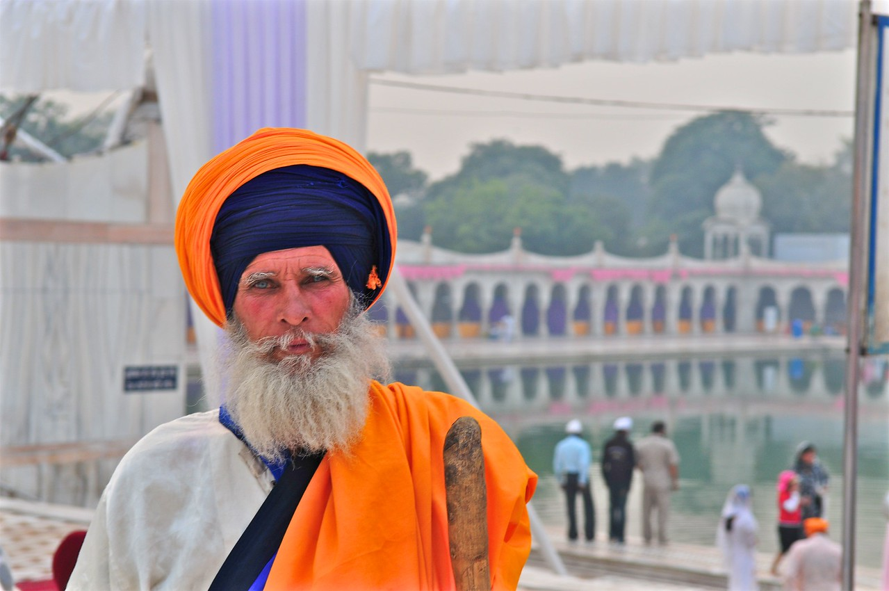 Sikh in temple