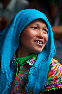 Flower Hmong woman in Bac Ha