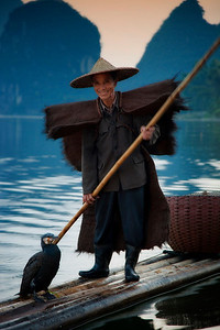 Yangshuo fisherman and cormorant