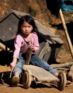 Young girl near Cat Cat village