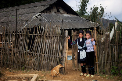Black Hmong women at their home