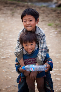 Two young boys at Ta Phin village