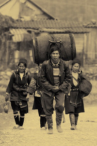 Black Hmong people near Ta Phin