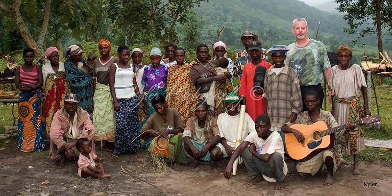 Pygmy group, Bwindi Uganda
